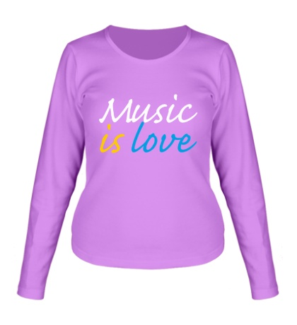 Женский лонгслив Music is love