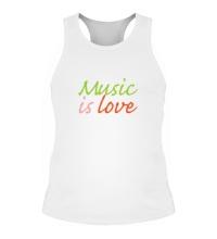 Мужская борцовка Music is love