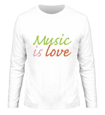Мужской лонгслив Music is love