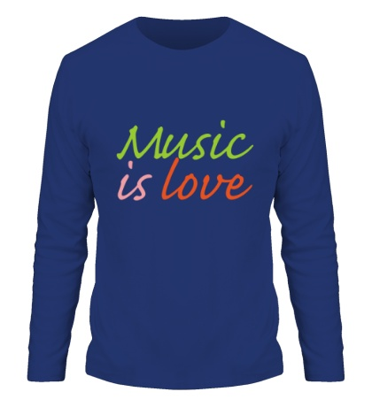 Мужской лонгслив Music is love