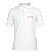 Рубашка поло Music is love
