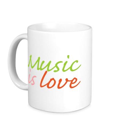 Керамическая кружка Music is love