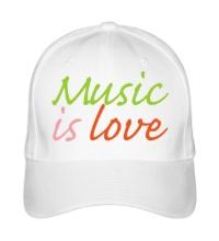 Бейсболка Music is love