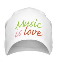 Шапка Music is love