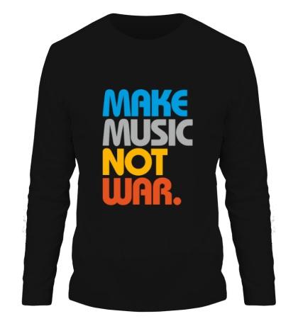 Мужской лонгслив Make music not war