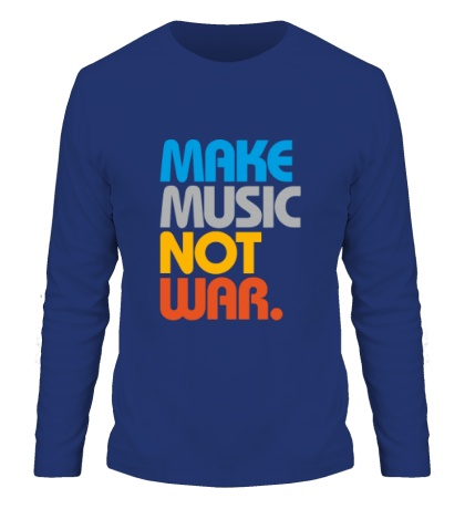 Мужской лонгслив Make music not war