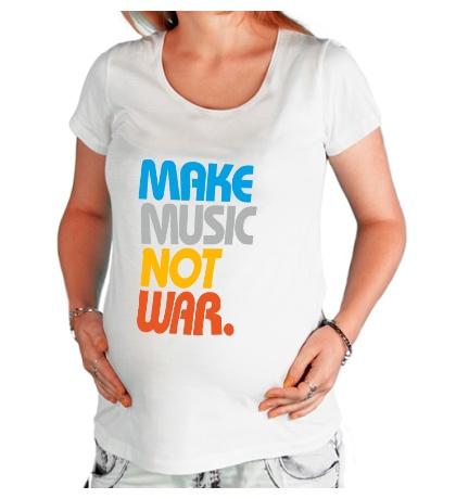 Футболка для беременной Make music not war
