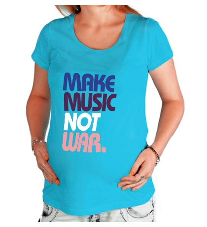 Футболка для беременной Make music not war