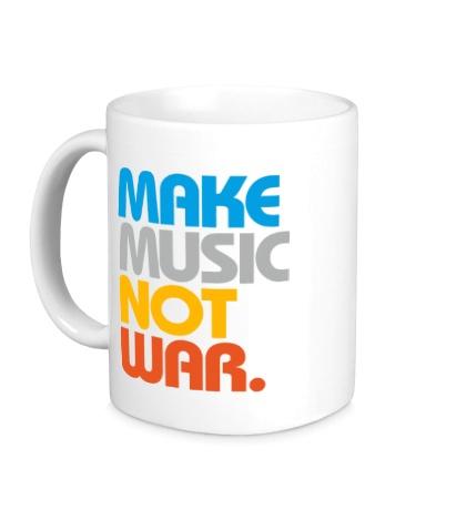 Керамическая кружка Make music not war