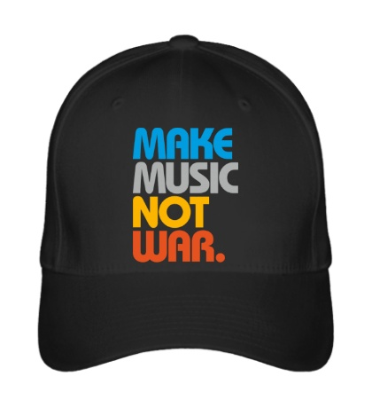 Бейсболка Make music not war