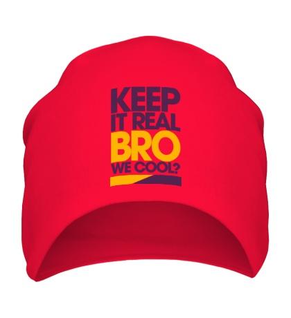 Шапка Keep it real bro