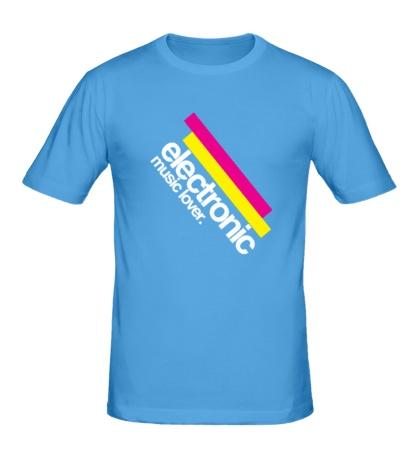 Мужская футболка Electronic music lover