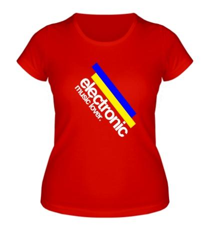 Женская футболка Electronic music lover