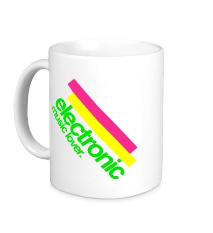 Керамическая кружка Electronic music lover