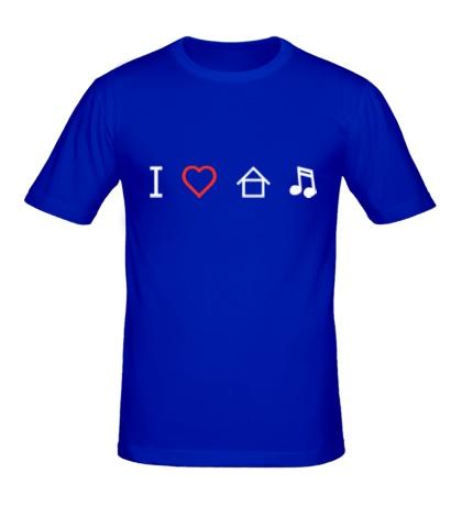 Мужская футболка Я люблю Хаус