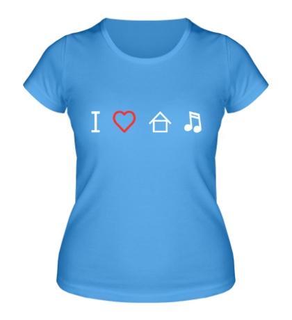 Женская футболка Я люблю Хаус