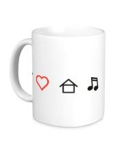 Керамическая кружка Я люблю Хаус