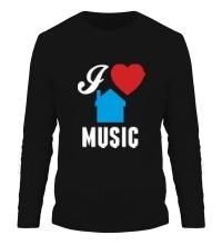 Мужской лонгслив I Listen House Music