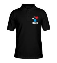 Рубашка поло I Listen House Music
