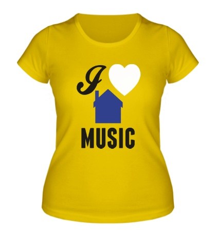 Женская футболка I Listen House Music