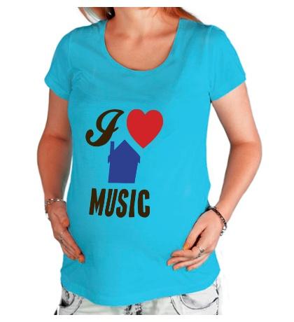Футболка для беременной I Listen House Music