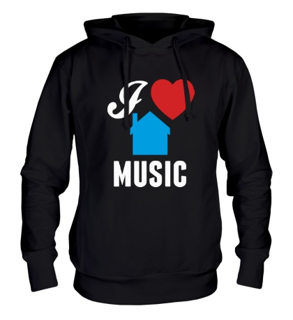 Толстовка с капюшоном I Listen House Music