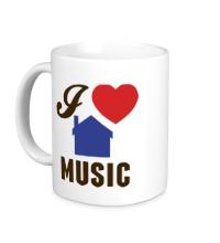 Керамическая кружка I Listen House Music