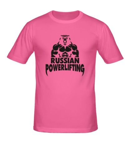 Мужская футболка Russian powerlifting
