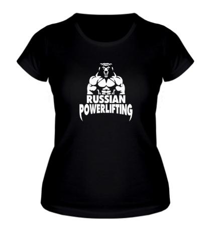 Женская футболка Russian powerlifting