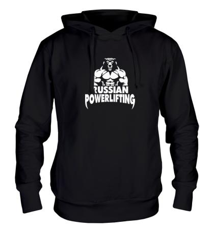 Толстовка с капюшоном Russian powerlifting