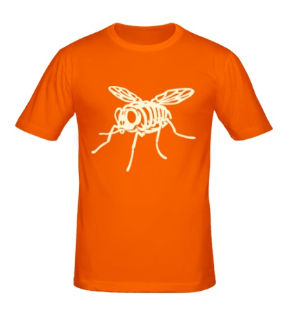 Мужская футболка Рентген мухи glow