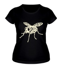 Женская футболка Рентген мухи glow