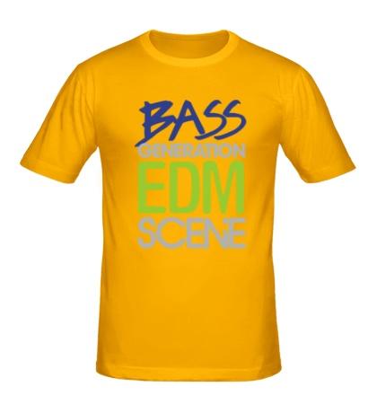 Мужская футболка Bass generation EDM scene