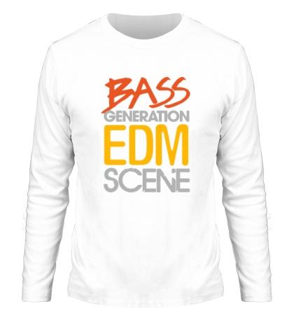 Мужской лонгслив «Bass generation EDM scene»