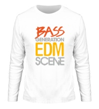 Мужской лонгслив Bass generation EDM scene
