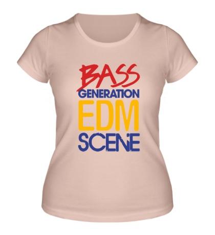 Женская футболка Bass generation EDM scene
