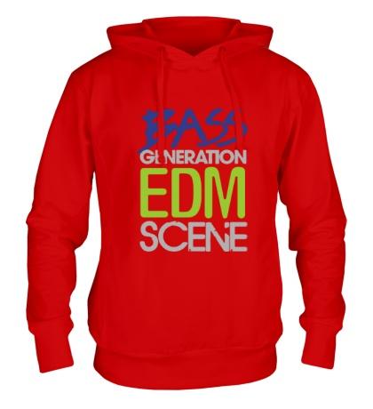 Толстовка с капюшоном Bass generation EDM scene
