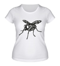 Женская футболка Рентген мухи