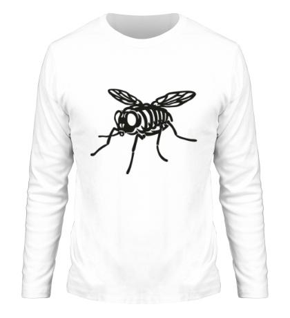 Мужской лонгслив Рентген мухи