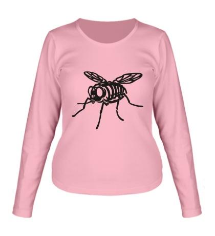 Женский лонгслив Рентген мухи