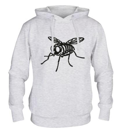 Толстовка с капюшоном Рентген мухи