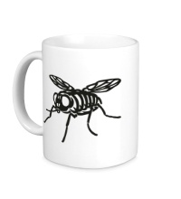Керамическая кружка Рентген мухи
