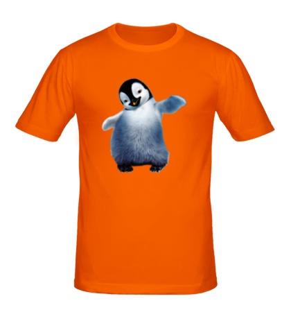 Мужская футболка Пушистый пингвин