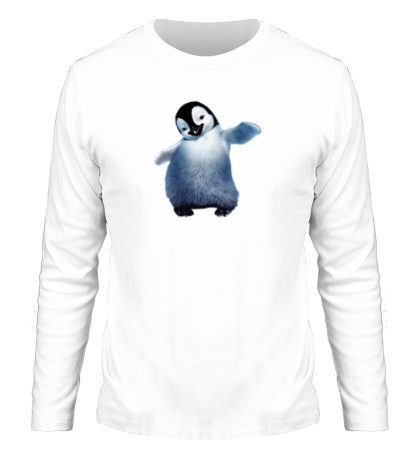 Мужской лонгслив Пушистый пингвин