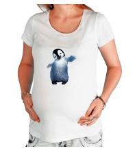 Футболка для беременной Пушистый пингвин