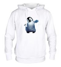 Толстовка с капюшоном Пушистый пингвин