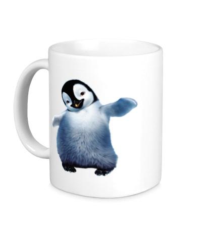 Керамическая кружка Пушистый пингвин