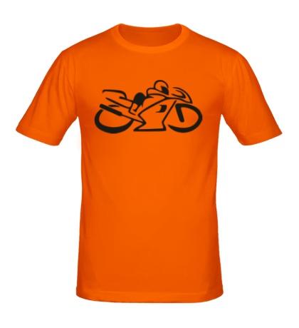Мужская футболка Мотобайк
