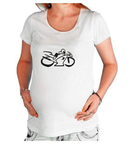 Футболка для беременной Мотобайк