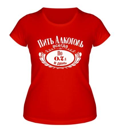 Женская футболка Пить алкоголь